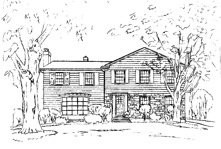 Steps and Stages of Creating a Pen and Ink House Portrait