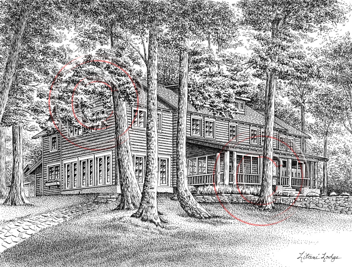 Pen and ink artist kelli swan custom portraits of houses