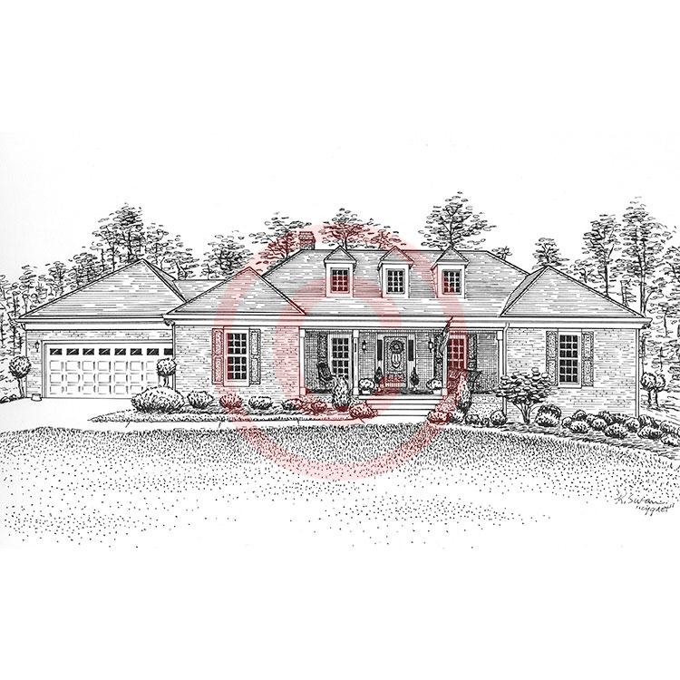 Line Art Drawing House : Pen and ink artist kelli swan custom portraits of houses