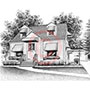 Pen and Ink House/Cottage Portrait