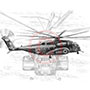 Blackhawk Helicopter Pencil Drawing