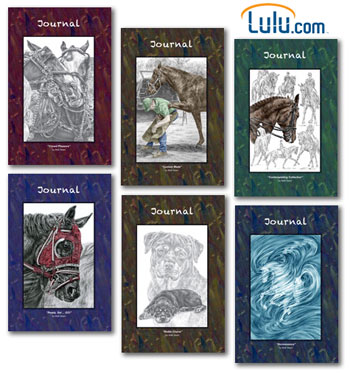 Horse and Dog Journals at Kelli Swan LuLu.com store