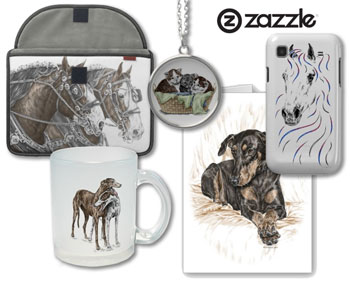 Gift products at Zazzle featuring the art of Kelli Swan