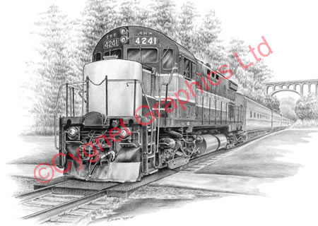 Brecksville Station Train (CVNP) - pencil drawing by Kelli Swan