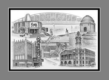 "Open Edition Canton/Stark County Ohio Landmarks Print ""Canton Lives"", by Kelli Swan"
