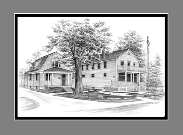 "Limited Edition ""Jaite Mill"" from the Cuyahoga Valley National Park drawing series by Kelli Swan"