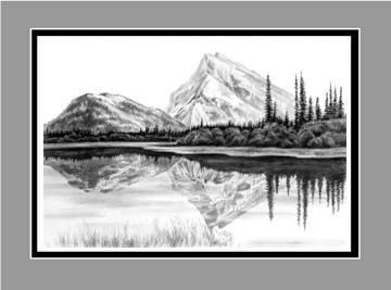 Mountain Landscape Drawings Pencil
